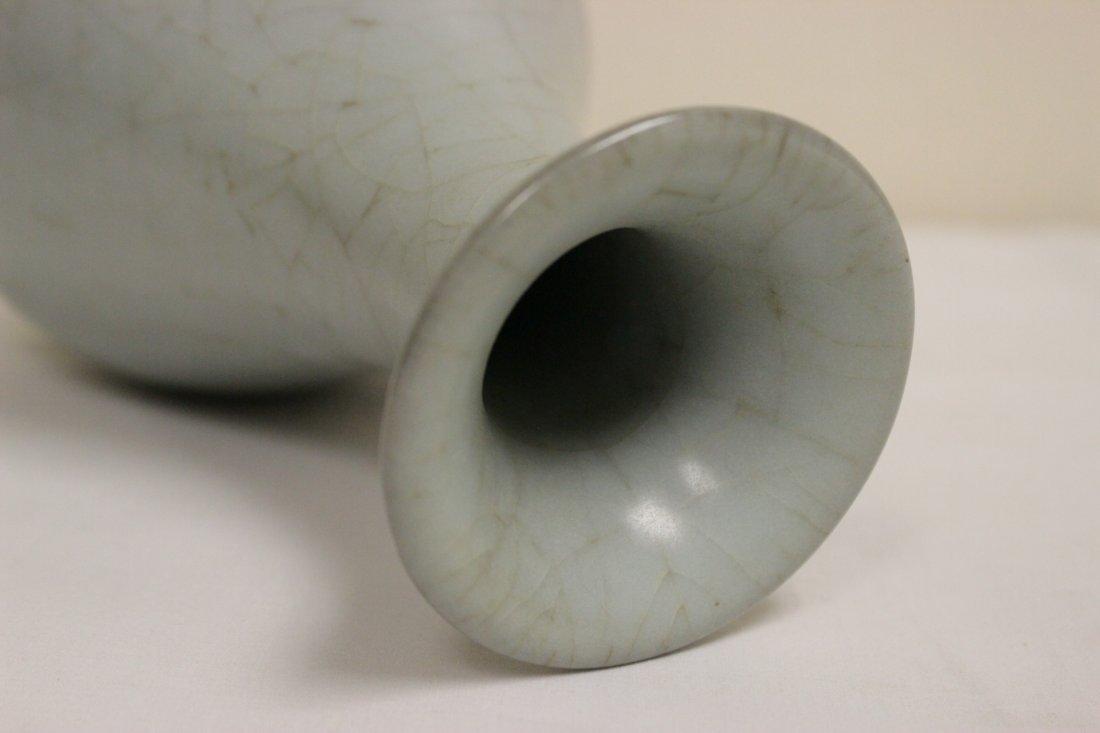 Chinese Song style celadon bottle vase - 9