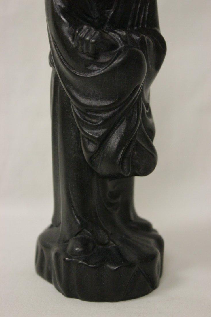 Chinese wood and shoushan stone Lohan - 2