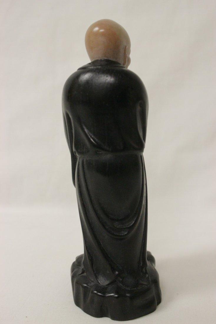 Chinese wood and shoushan stone Lohan - 7