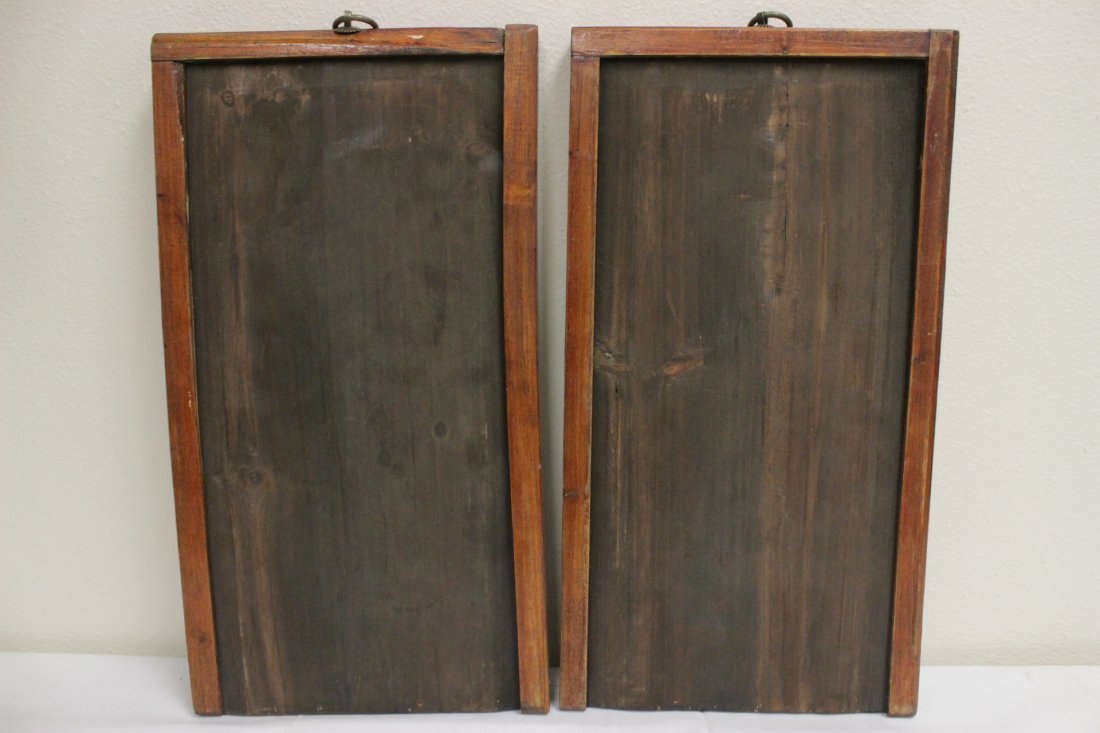 Pair Chinese porcelain plaques - 10