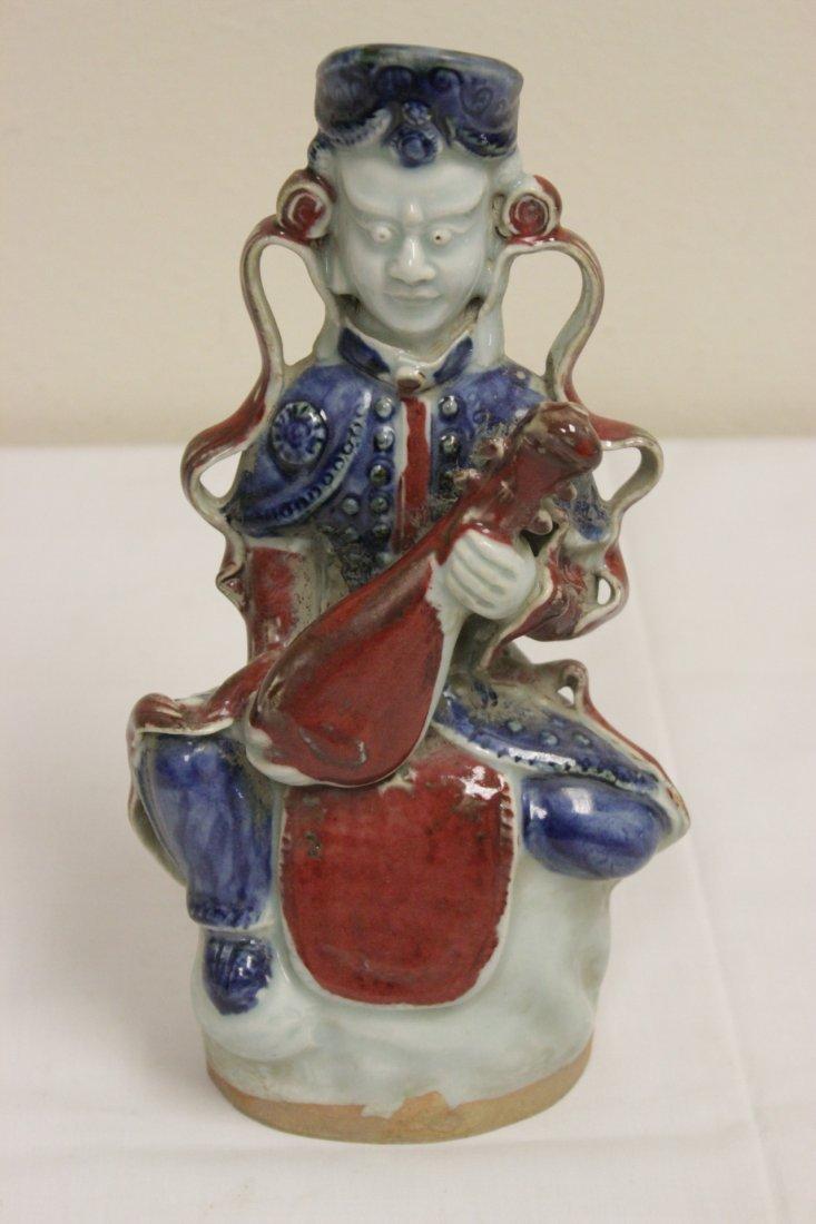 Chinese wucai porcelain Buddha