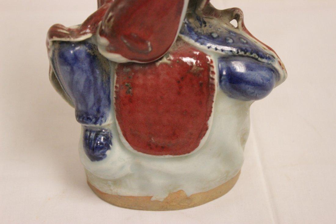 Chinese wucai porcelain Buddha - 6