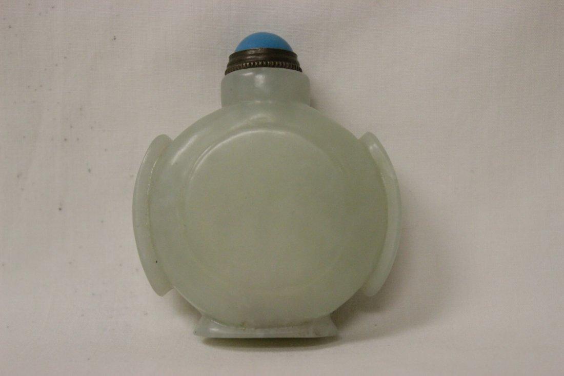 2 jade carved snuff bottles - 4