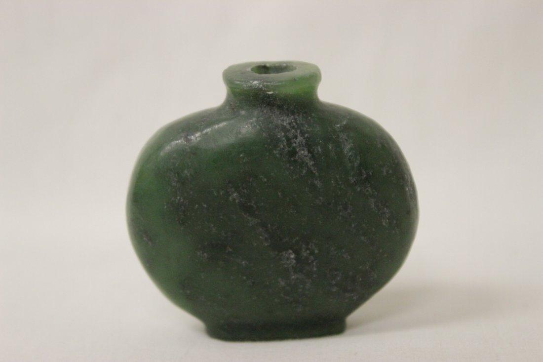 2 jade carved snuff bottles - 6