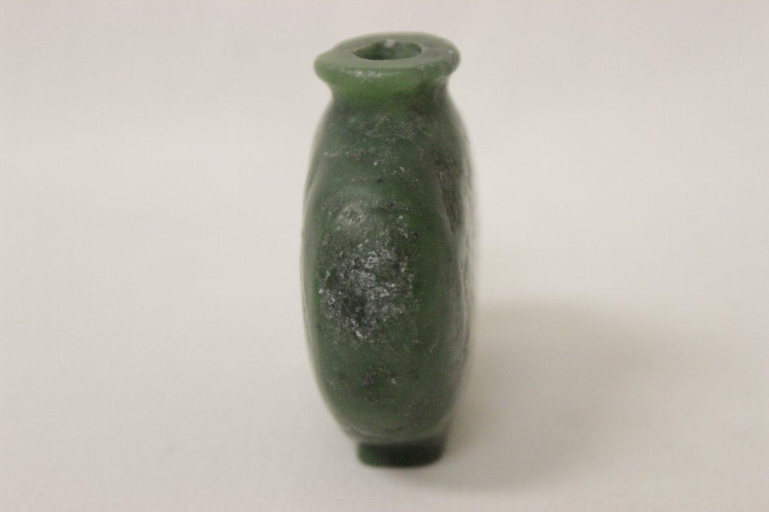 2 jade carved snuff bottles - 8
