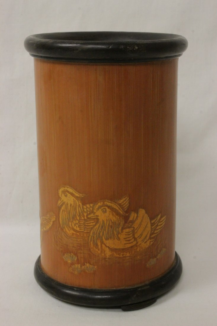 Chinese bamboo brush holder - 3