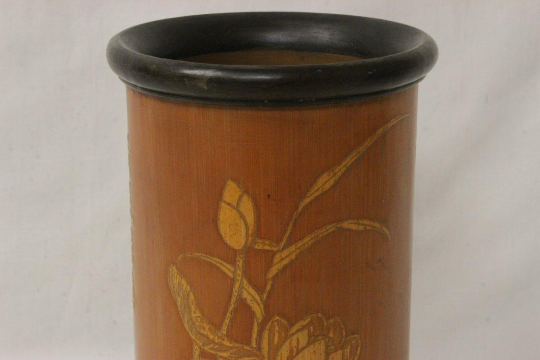 Chinese bamboo brush holder - 5