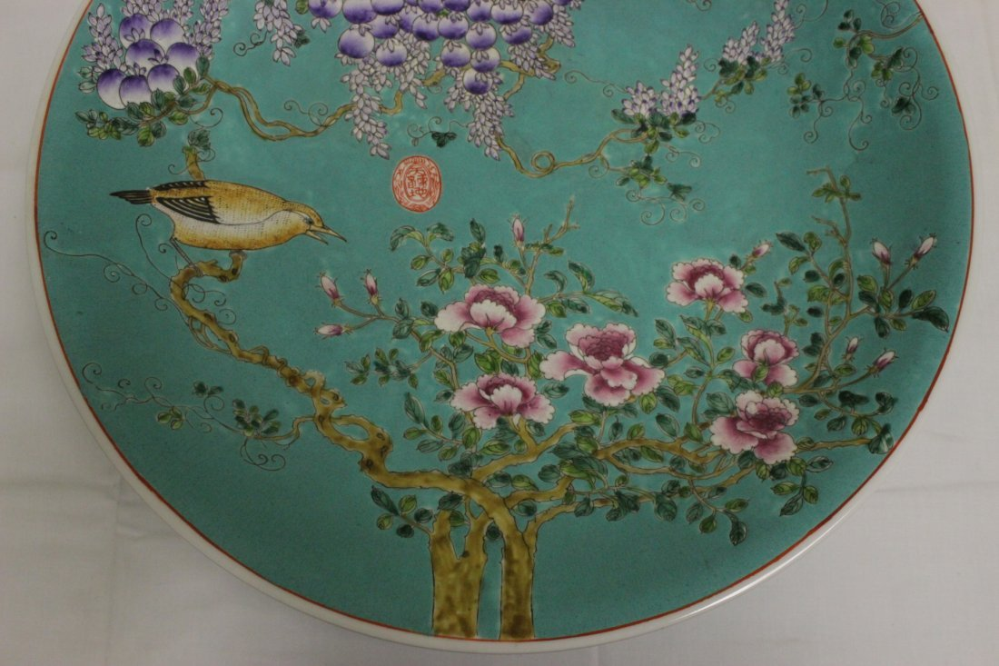 Large Chinese famille rose platter - 3