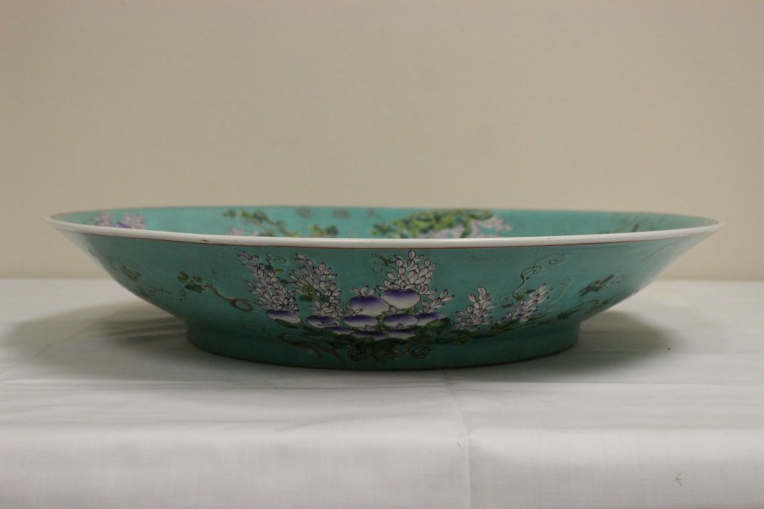 Large Chinese famille rose platter - 7
