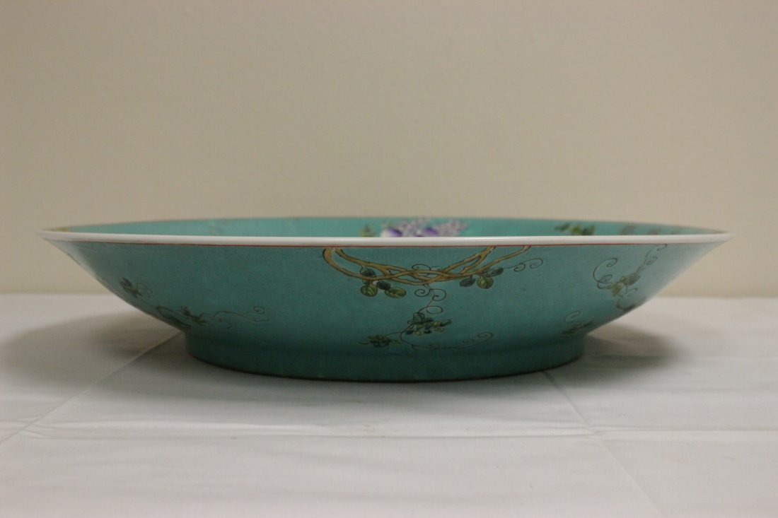 Large Chinese famille rose platter - 8
