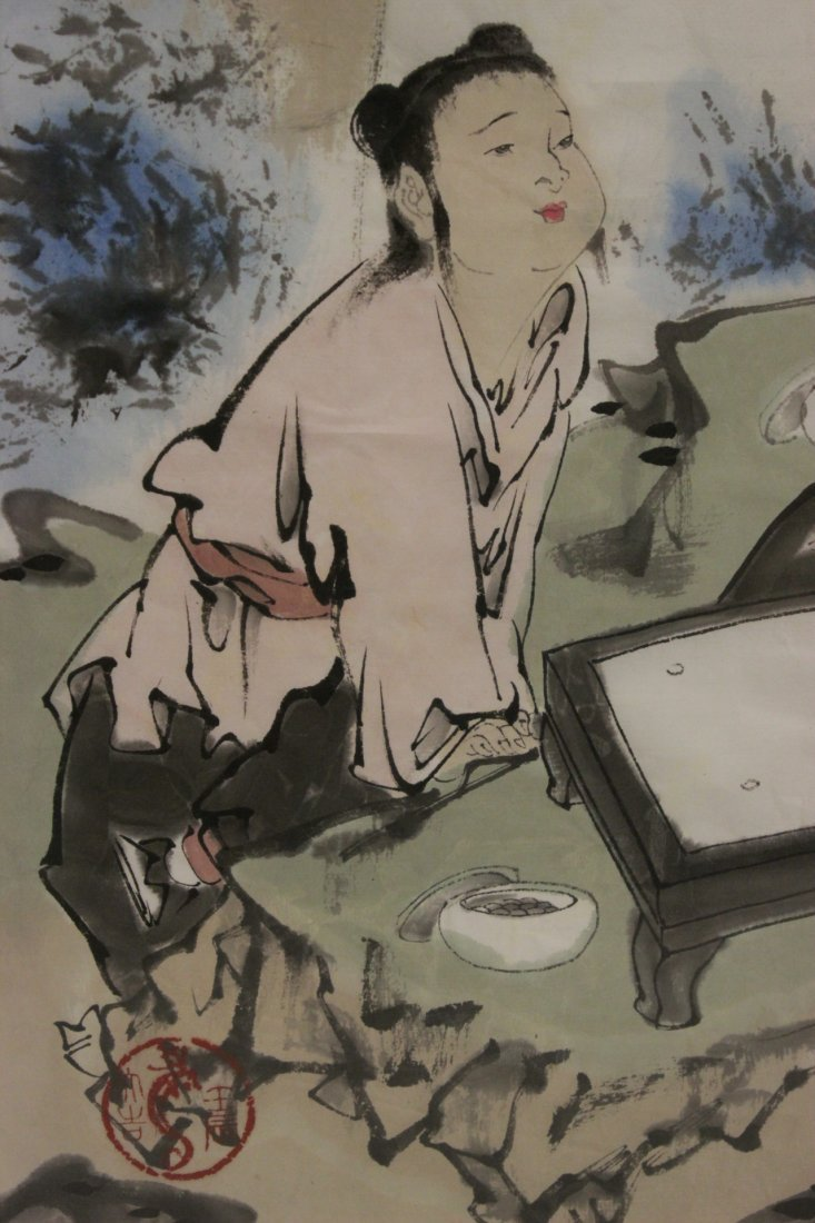 Chinese framed watercolor - 5