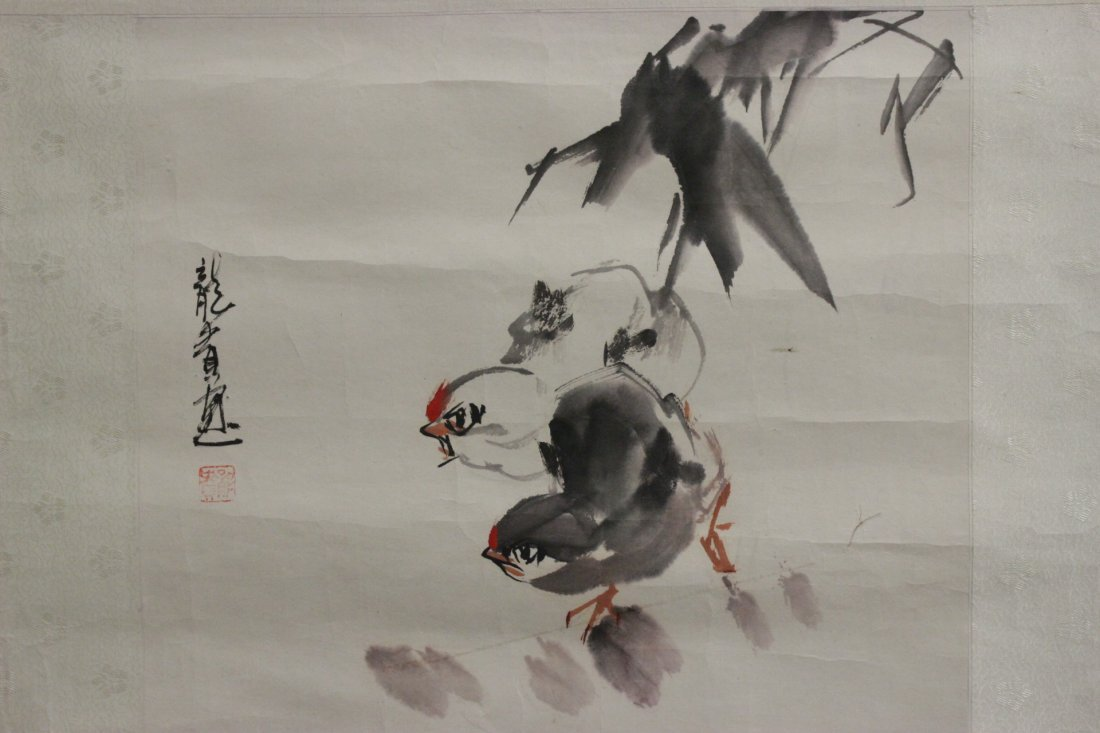 3 Chinese unframed watercolor on rice paper - 5