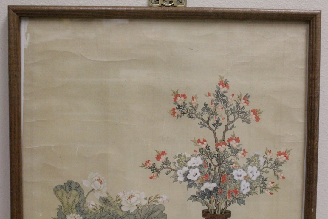 Framed Chinese watercolor - 2