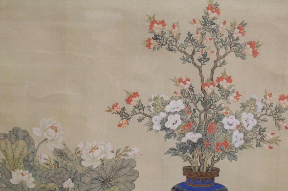 Framed Chinese watercolor - 8