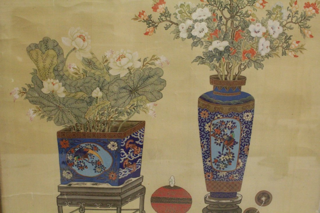 Framed Chinese watercolor - 9