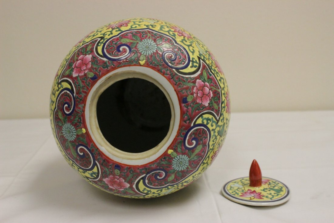 Chinese famille rose covered jar - 8