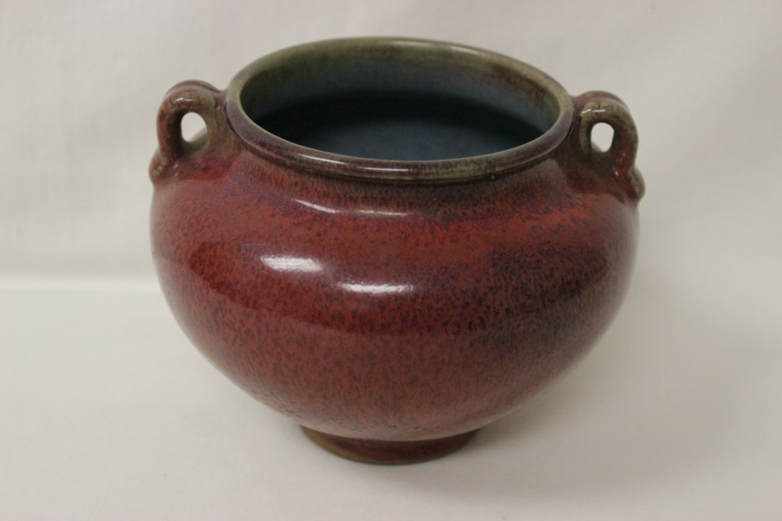 Song style red glazed wine jar