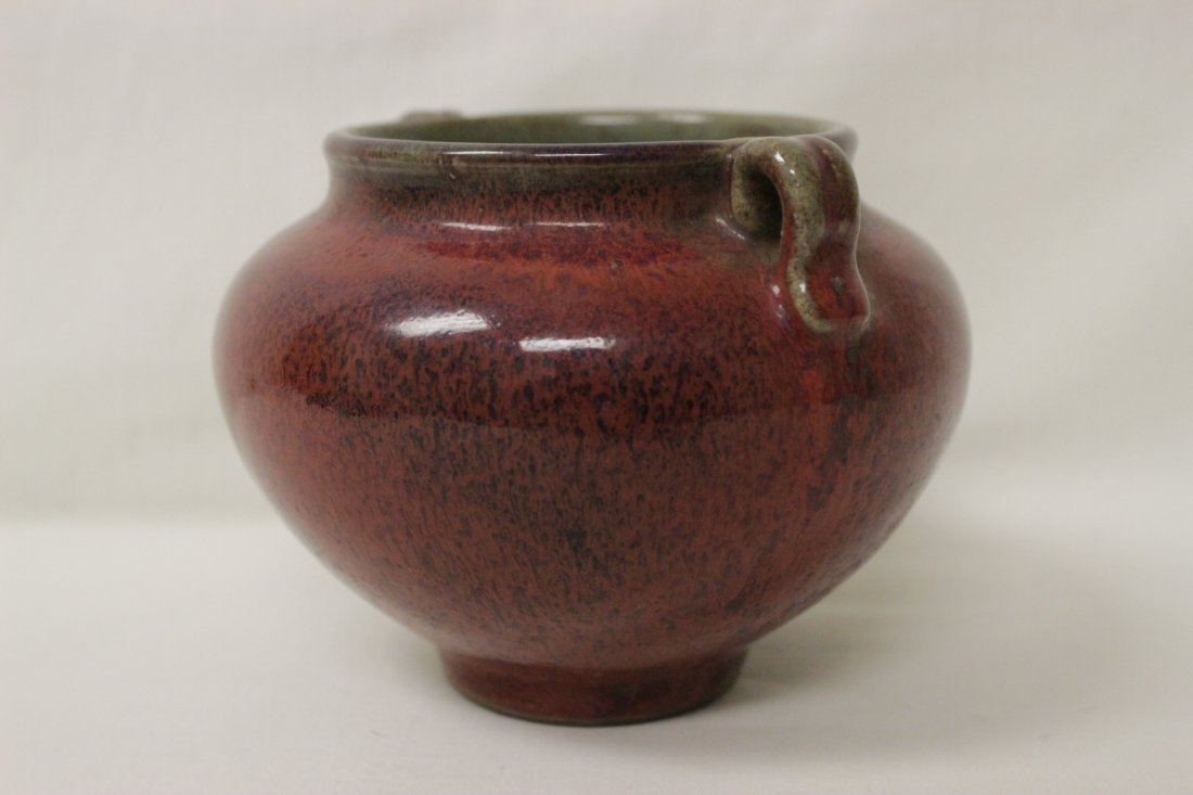 Song style red glazed wine jar - 2