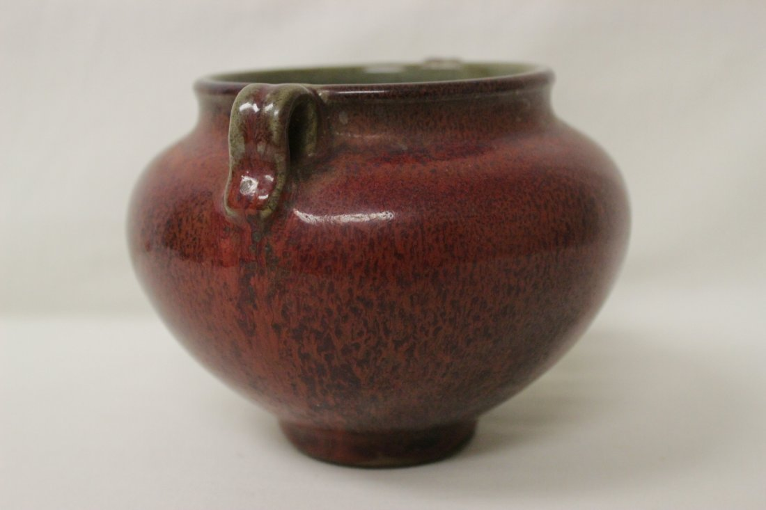 Song style red glazed wine jar - 3