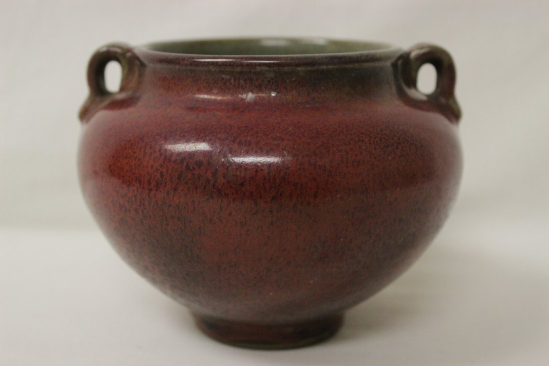 Song style red glazed wine jar - 4