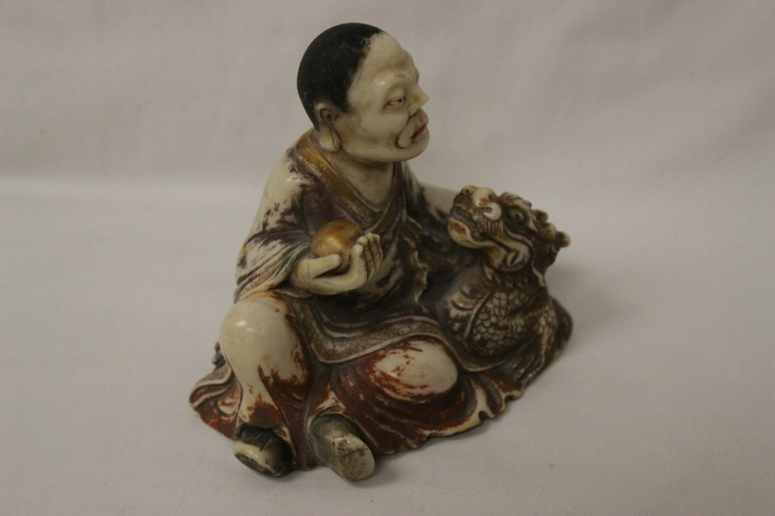 Chinese shoushan stone style Lohan - 3