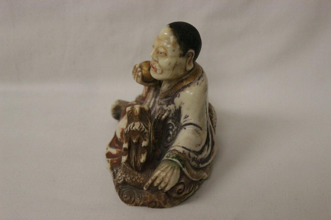Chinese shoushan stone style Lohan - 4