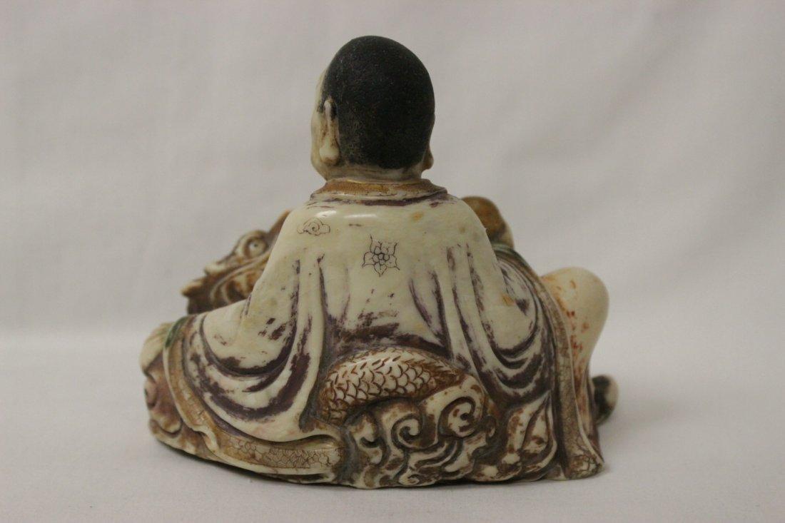 Chinese shoushan stone style Lohan - 5