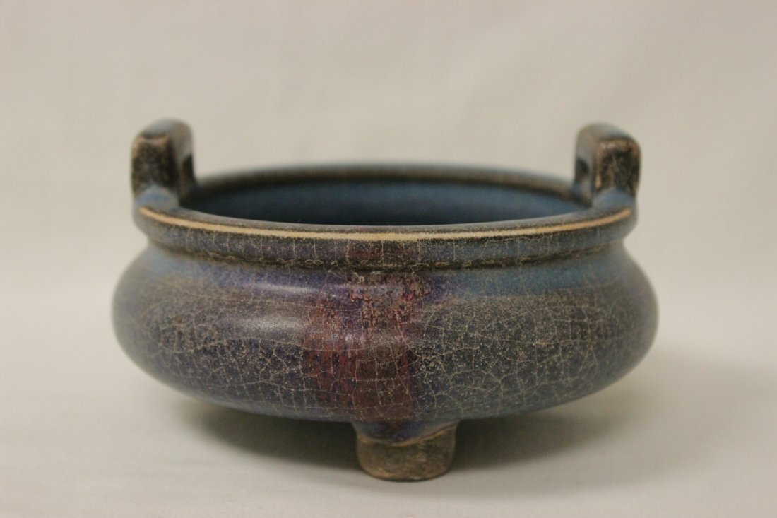 Chinese Song style porcelain footed censer - 2