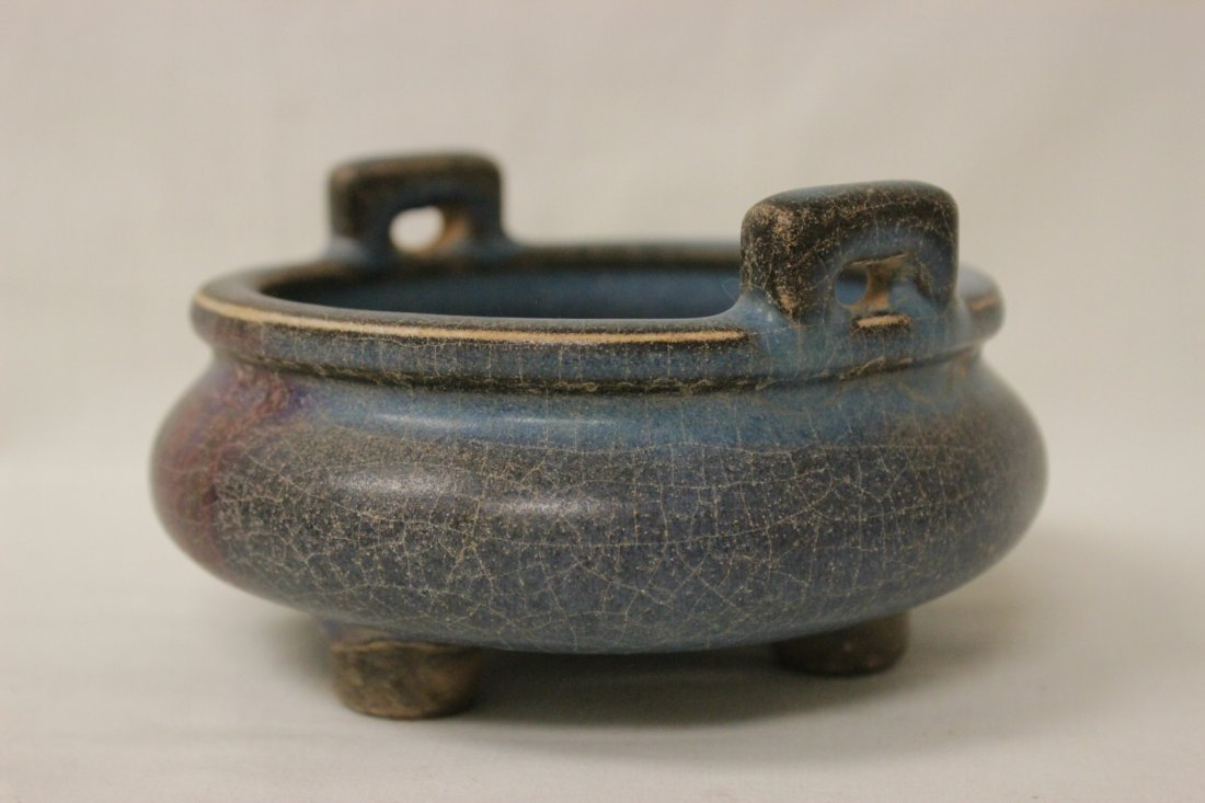 Chinese Song style porcelain footed censer - 3