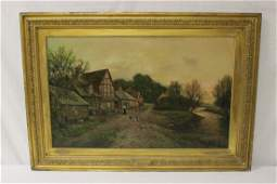19th c European oil on canvas signed S Waldron