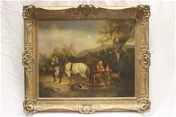 Antique European o/b, signed William Shayer