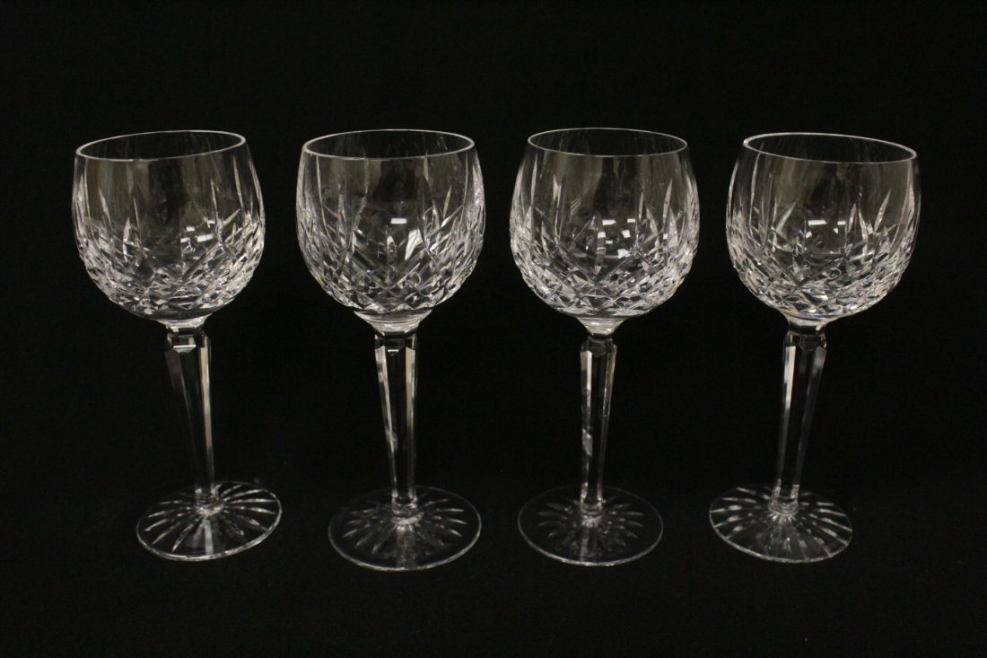 8 high stem crystal red wine glasses by Waterford - 2