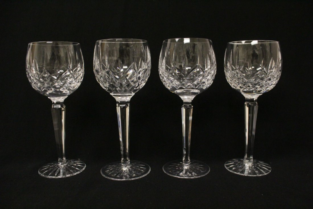 8 high stem crystal red wine glasses by Waterford - 3