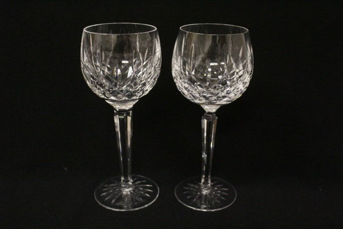 8 high stem crystal red wine glasses by Waterford - 4