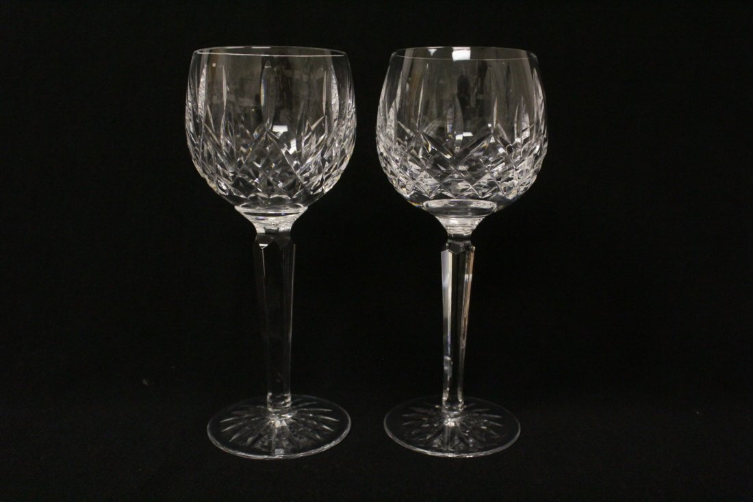 8 high stem crystal red wine glasses by Waterford - 5