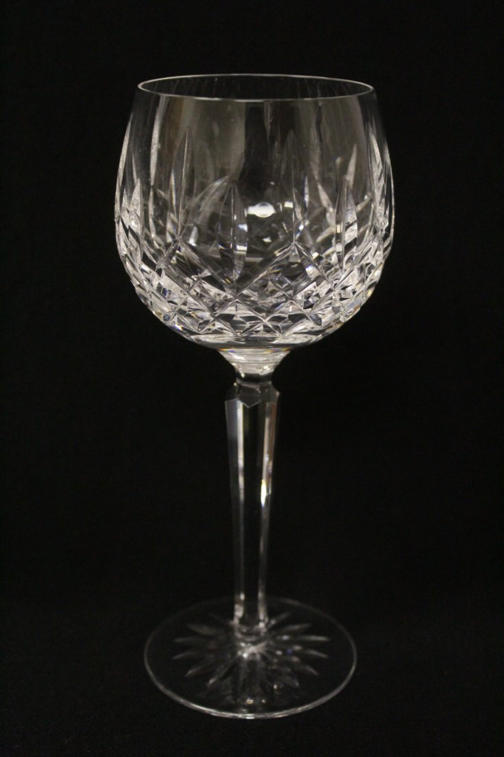 8 high stem crystal red wine glasses by Waterford - 6