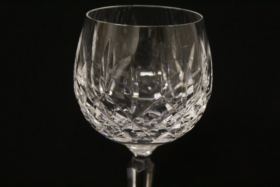 8 high stem crystal red wine glasses by Waterford - 7
