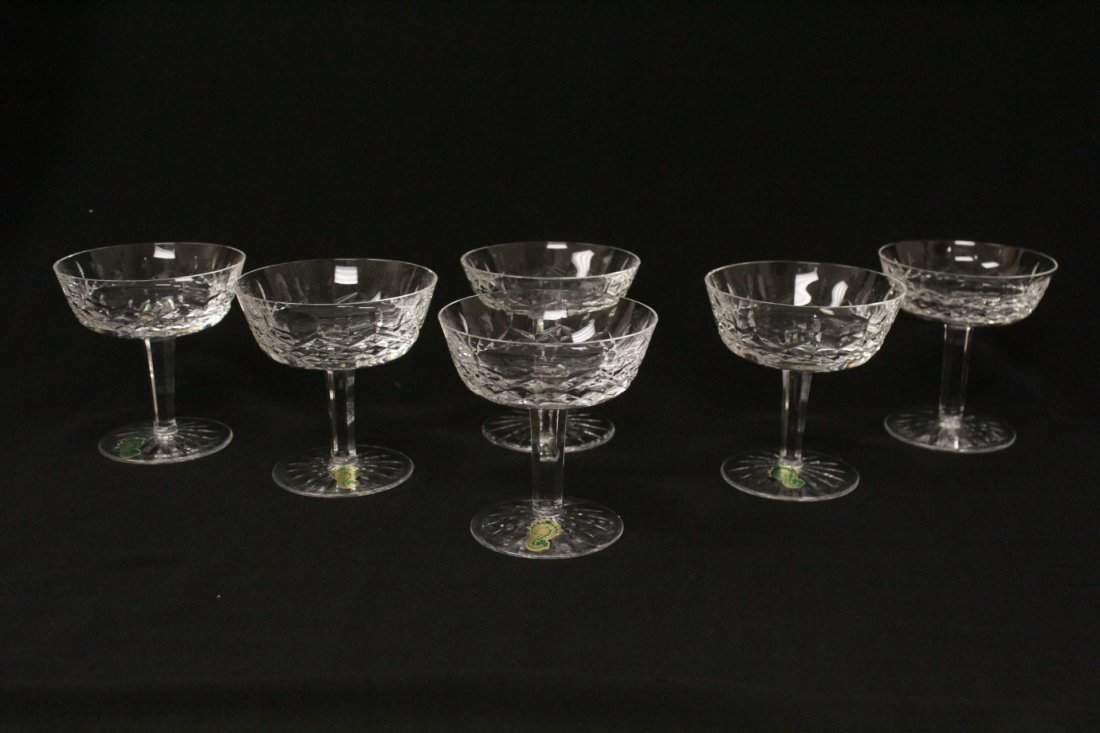 6 crystal ice cream glasses by Waterford