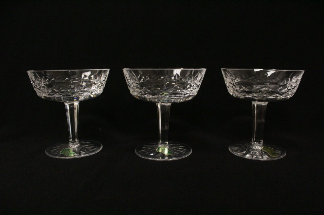 6 crystal ice cream glasses by Waterford - 3