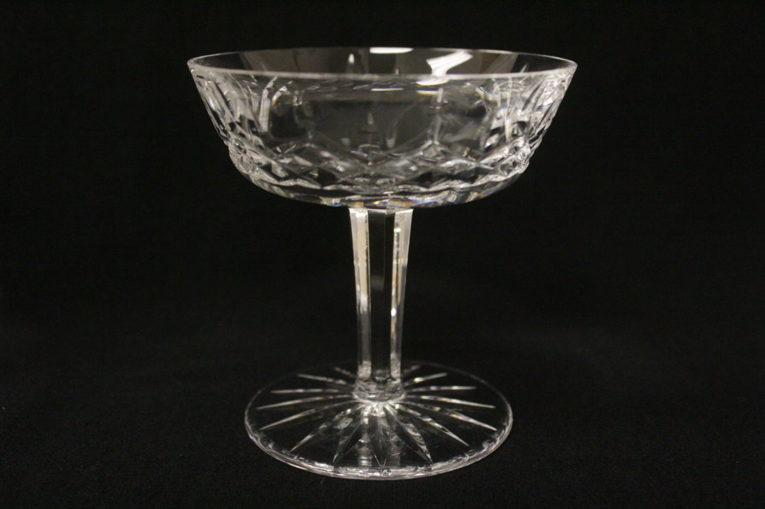 6 crystal ice cream glasses by Waterford - 5