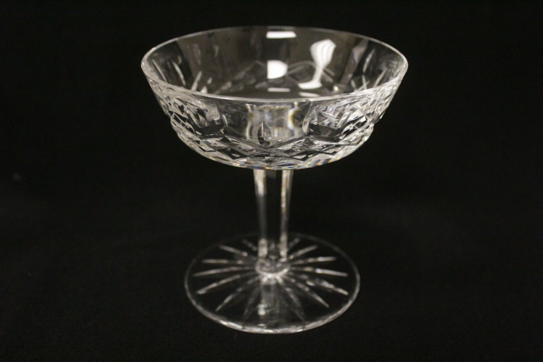 6 crystal ice cream glasses by Waterford - 6