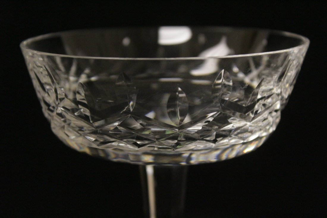 6 crystal ice cream glasses by Waterford - 8