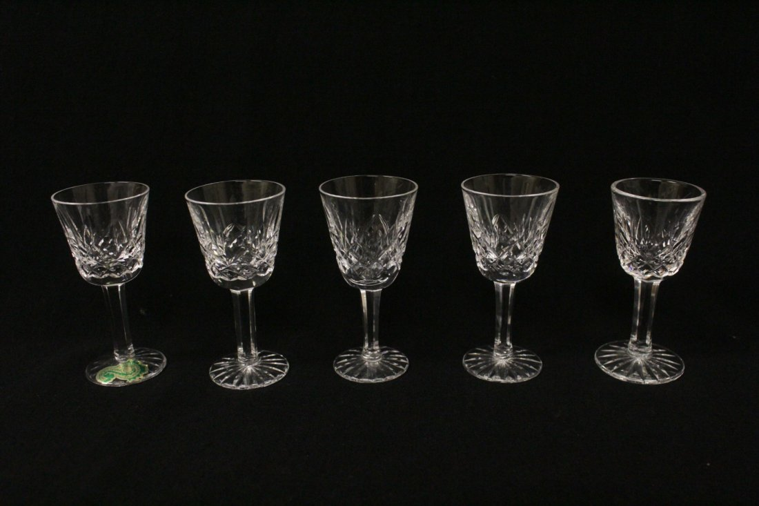 12 crystal cordial wine glasses by Waterford - 2