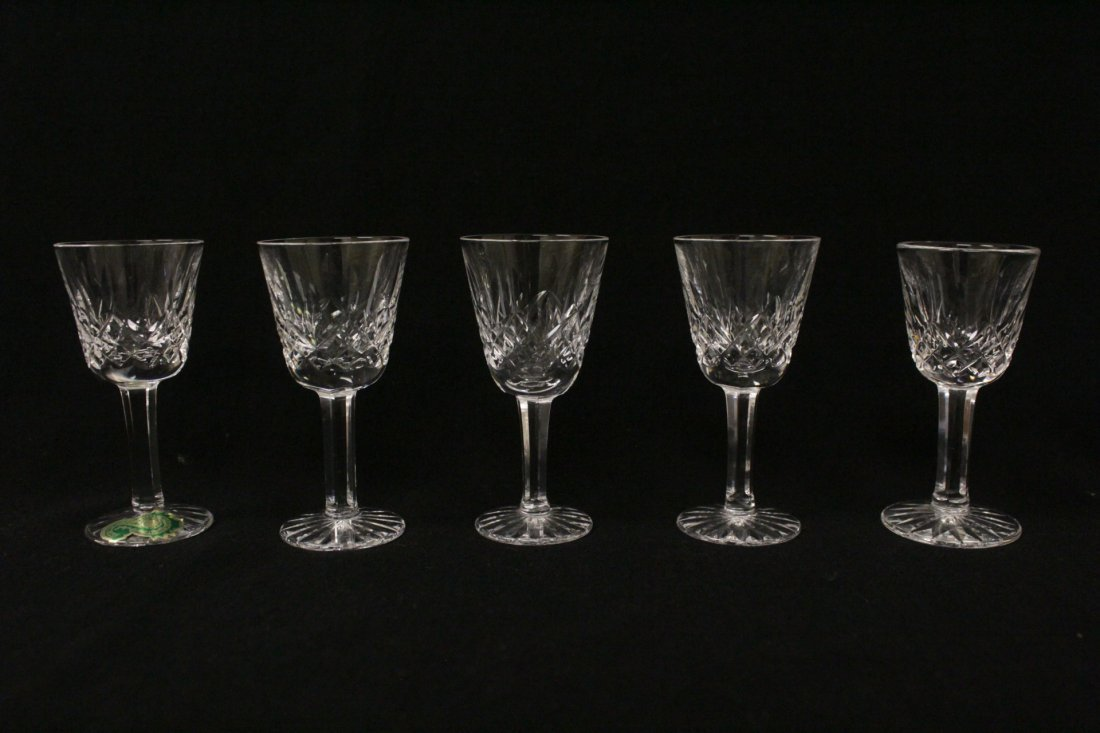 12 crystal cordial wine glasses by Waterford - 3