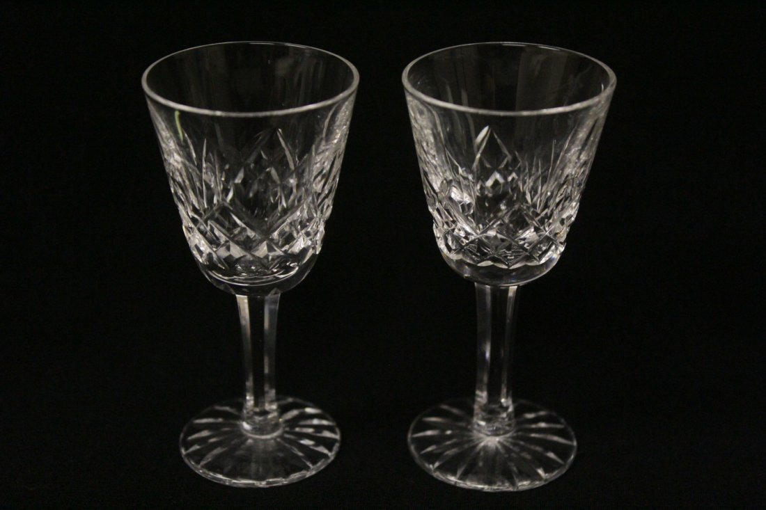 12 crystal cordial wine glasses by Waterford - 4