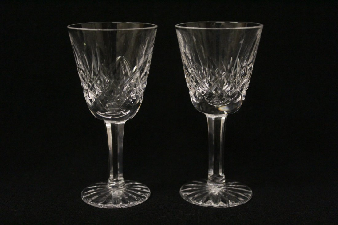 12 crystal cordial wine glasses by Waterford - 5