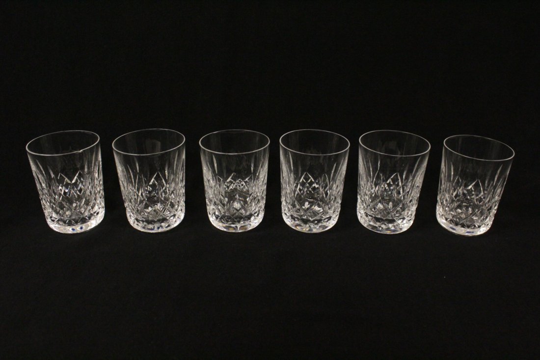 16 crystal water glasses by Waterford - 2