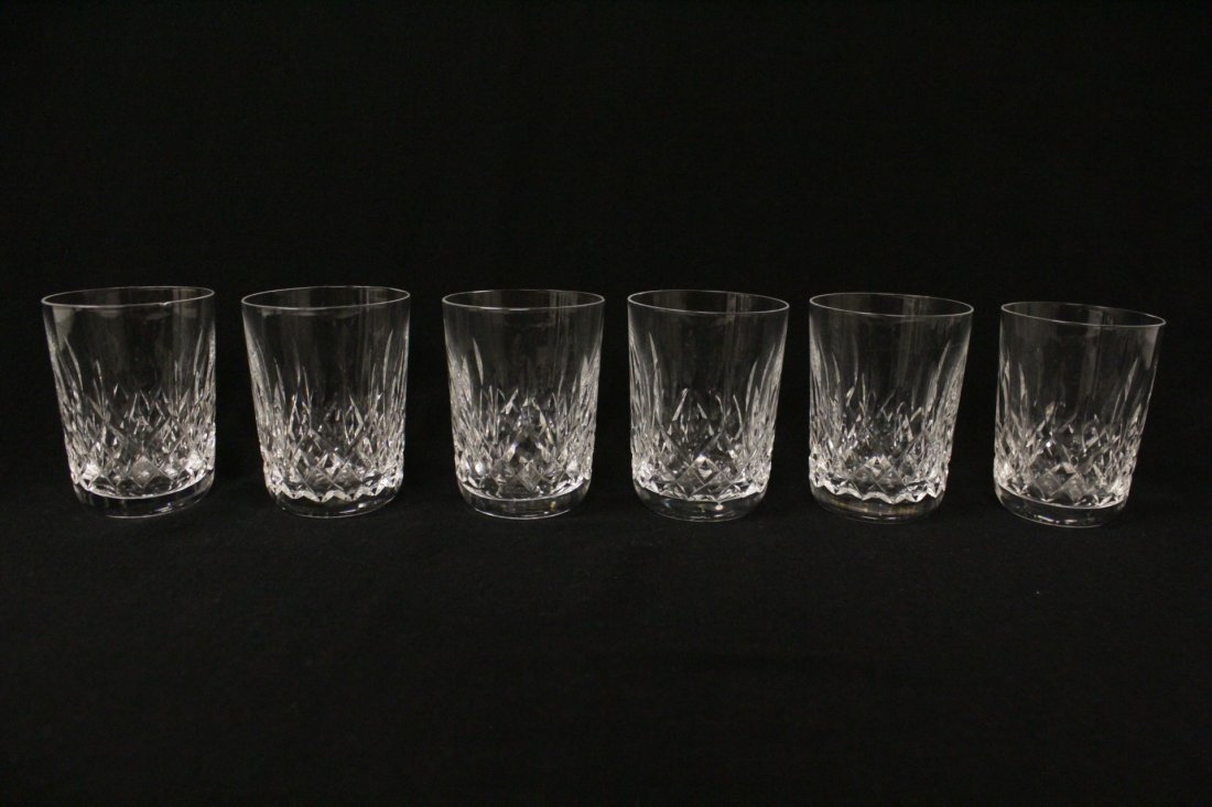 16 crystal water glasses by Waterford - 3