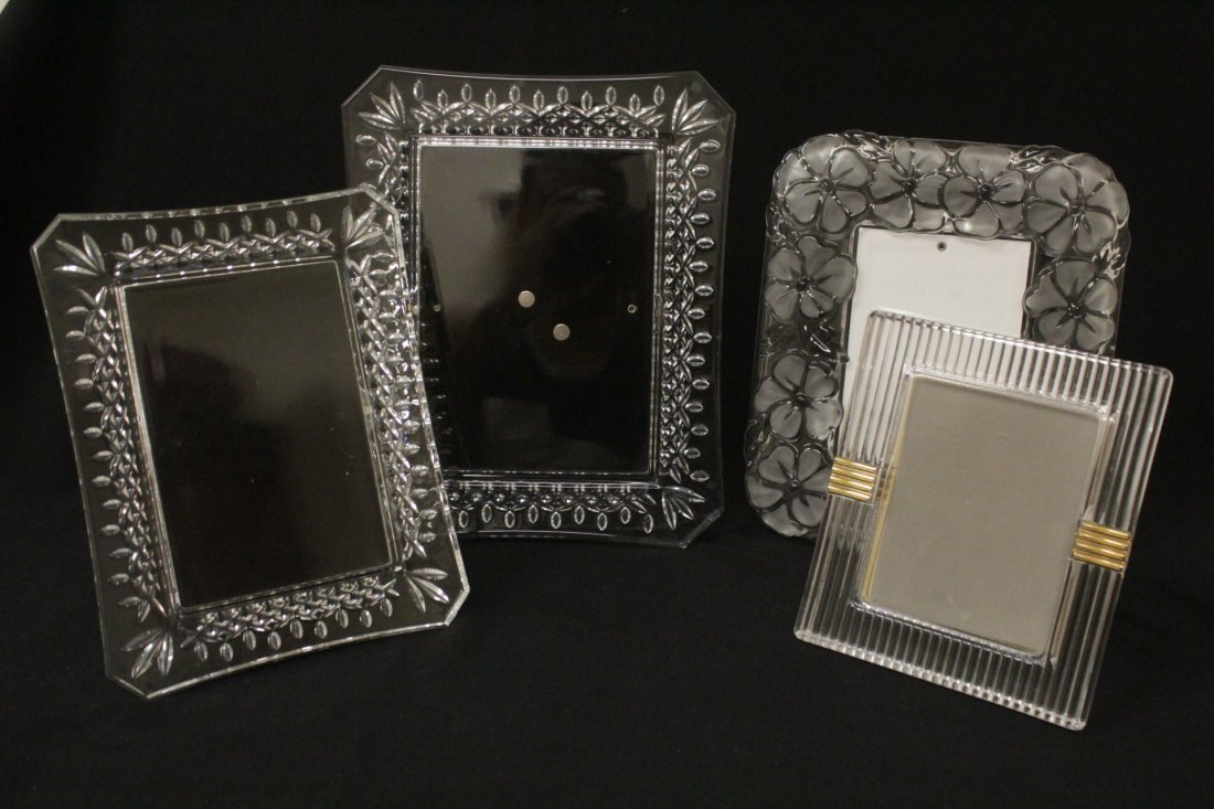 4 crystal picture frames, 2 by Waterford