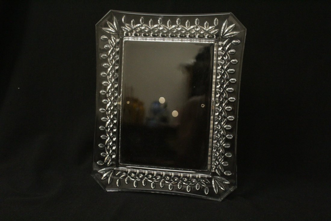 4 crystal picture frames, 2 by Waterford - 2